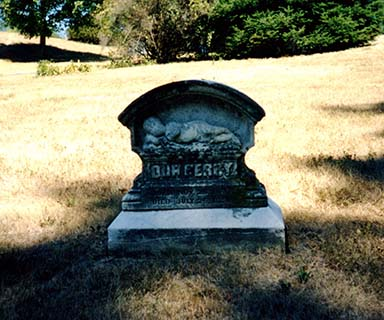 Headstone monument for the infant Percival Wurlitzer.