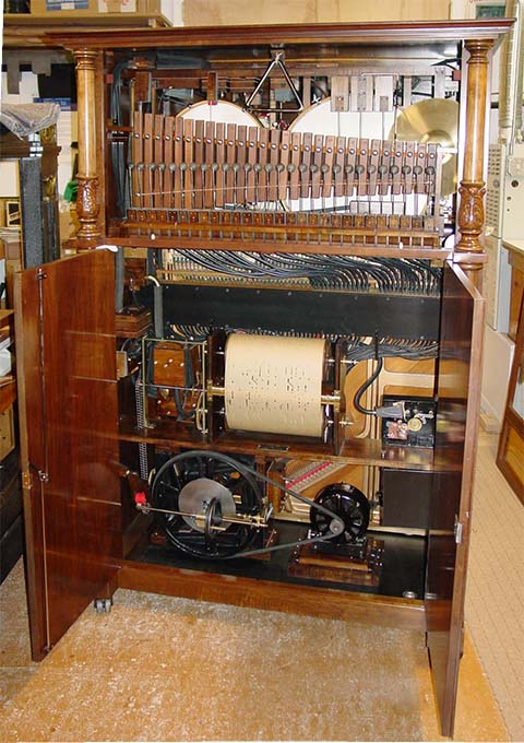 Interior of Nelson-Wiggen Style 6 Orchestrion.
