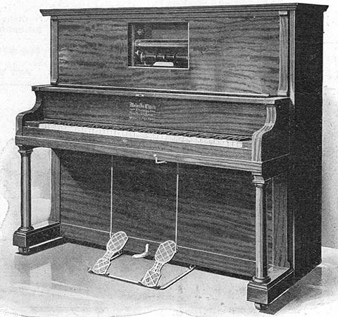 Apollo Style C upright piano.