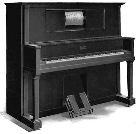 Apollo Style K upright piano.