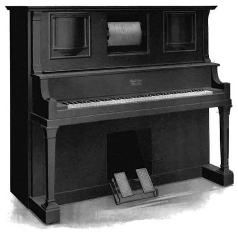 Apollophone style WP player piano with talking machine.