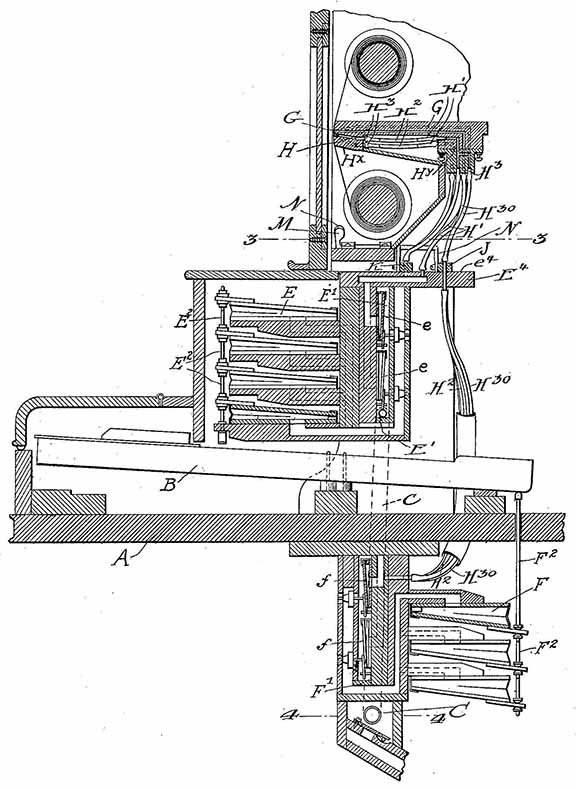 Melville Clark Interior Piano Player Patent US 1,014,810.
