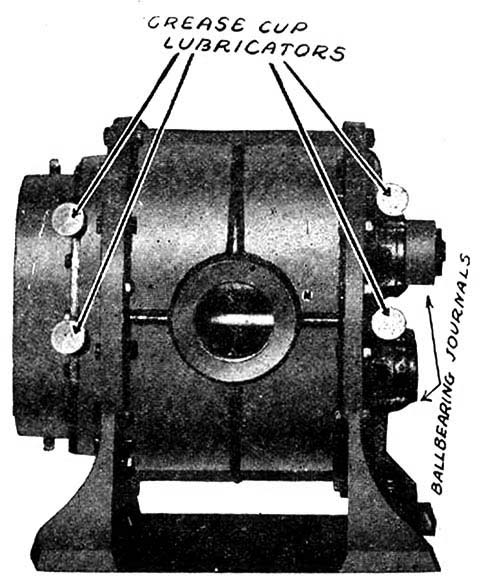 Roots lobe type blower normally shipped with the Tangley Calliaphone.