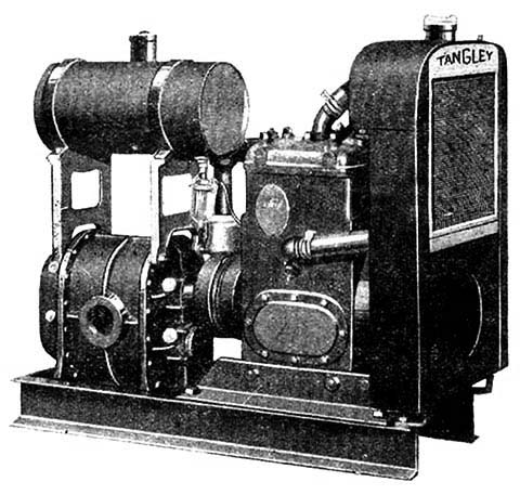 Unified gas engine and blower for a Tangley Calliaphone.