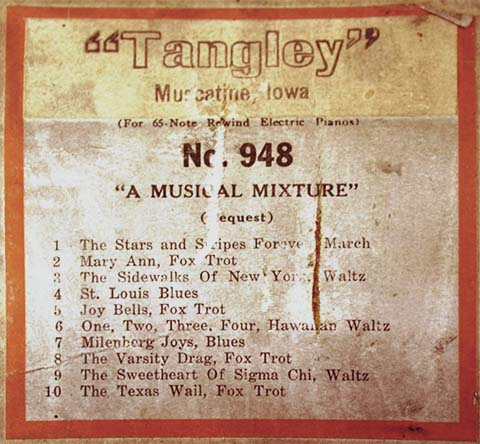 Tangley music roll #948.