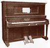 Lyon & Healy Style A Washburn Player Piano.