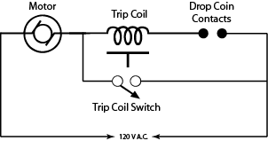 Coin switch circuitry.