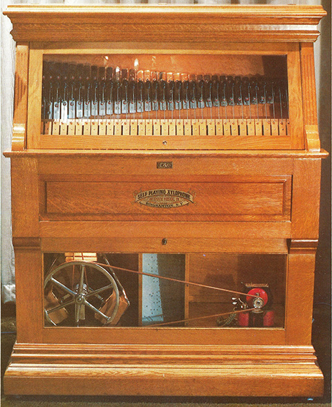 Automatic Musical Company's first automatic instrument, the Self-Playing Xylophone.