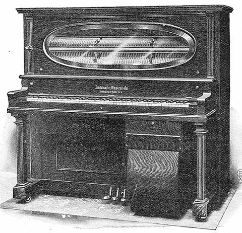 The Reliable, the first self-playing piano made by the Automatic Musical Company, introduced in 1904.