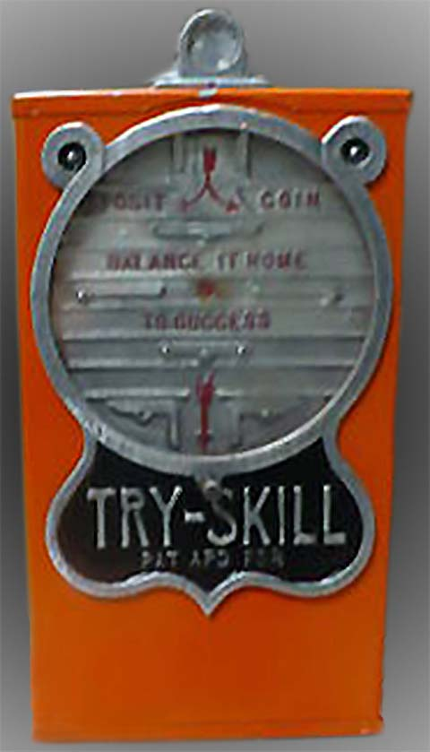 Try-Skill stand-alone coin-operated game of skill.