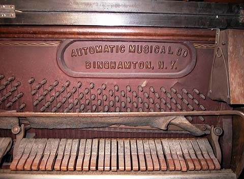 Schaff serial number on an early Link Piano Company Style R.