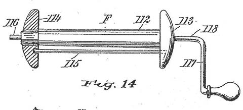 Rewinder drawing from 1904 patent.