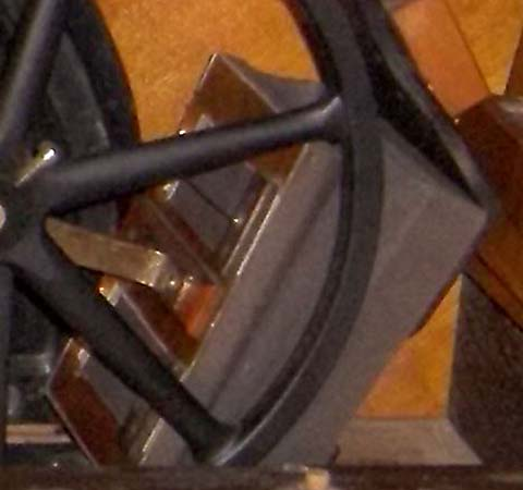 Close-up of a bellow unit in an early Automatic Musical Company rotary pump.