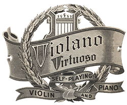 Mills Violano-Virtuoso advertising emblem.