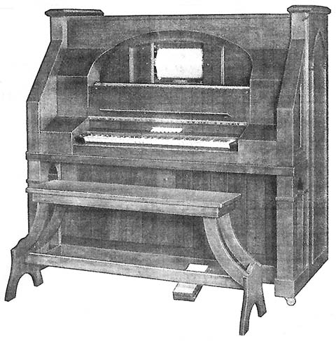 New Style Reproduco Mortuary Organ.