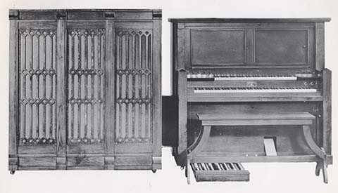 Reproduco Super Junior Player Pipe Organ with side-cabinet.