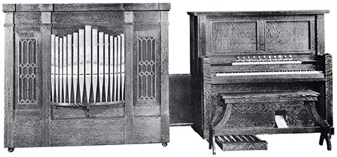 Reproduco Super Player Pipe Organ with side-cabinet.