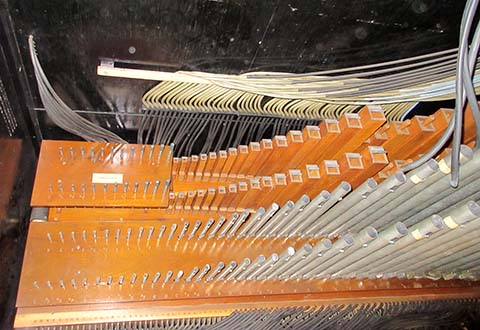 Top view of side-chest pipework for Reproduco Unified Theatre Organ #283561.