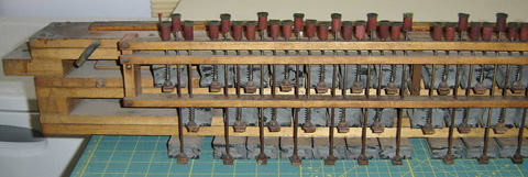 Early deck board stack made by Operators Piano Company.