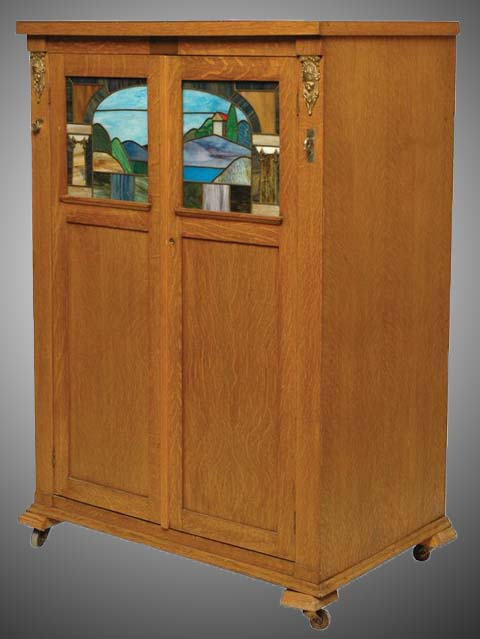 Seeburg 2-door style L with all colored art glass.