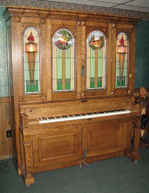 Seeburg style G cabinet and glass used with Gram and Seybold pianos.