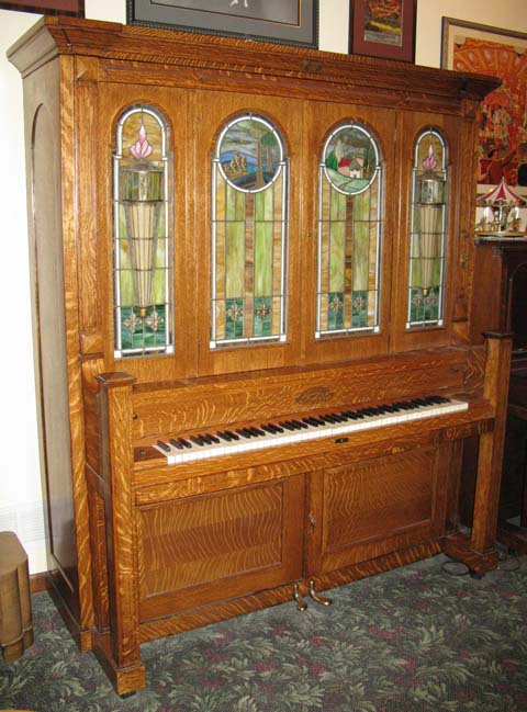 Seeburg style G cabinet and glass used with Haddorff and Seeburg pianos made in the Seeburg factory.