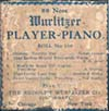 Wurlitzer 88-Note Player-Piano roll label for roll #150.